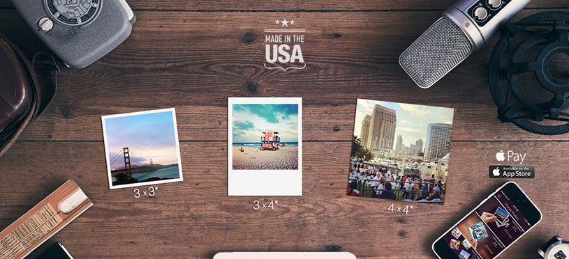 Print Photos from  Instagram, 3x3, 3x4, 4x4 or 5x5