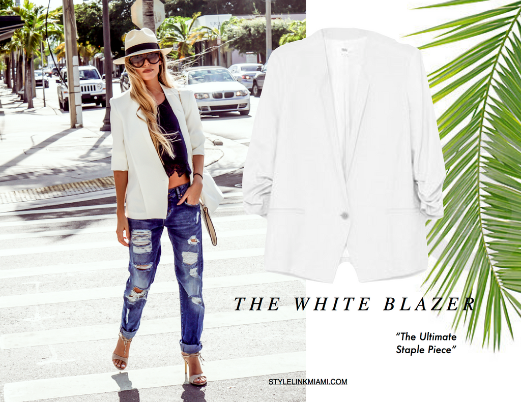 Style Link Miami Blog - What Am I Wearing Today - The White Blazer