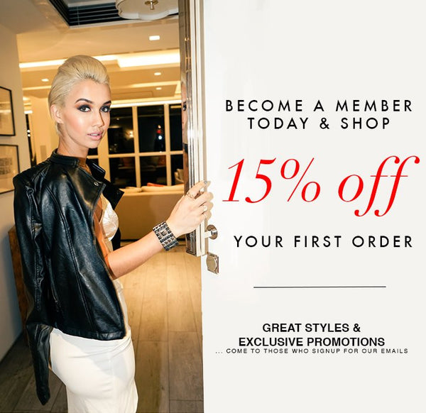 Sign up and get 15% off!