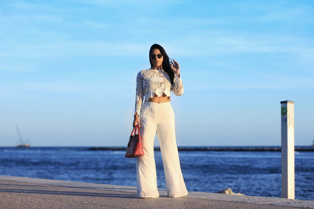 Style Link Miami_The Lux Loft_White Floral Crochet Top