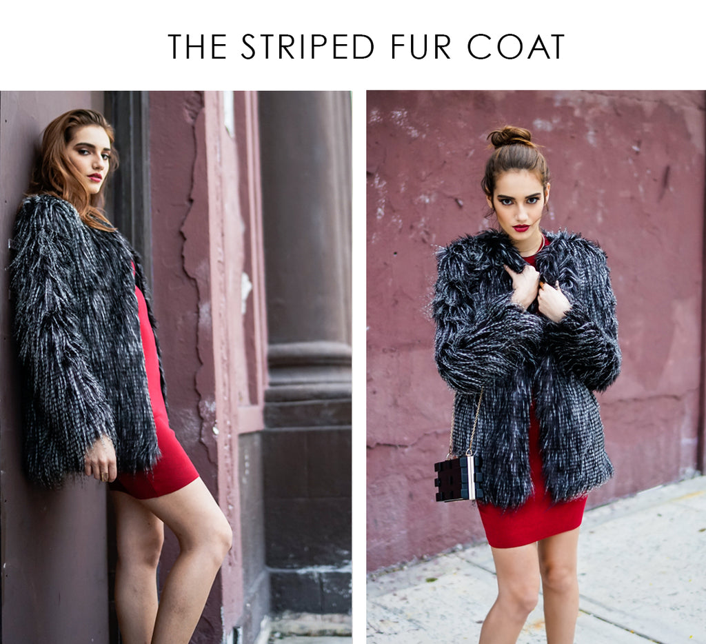 shop-latest-outerwear-black-grey-striped-fur-coat-style-link-miami