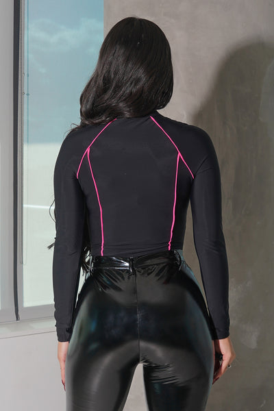 Sporty Lines Long Sleeve Bodysuit
