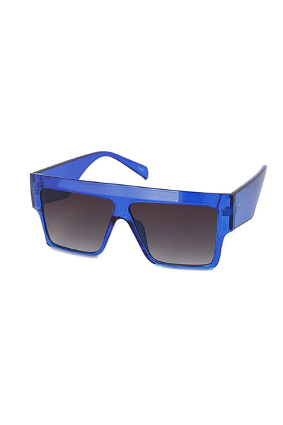 Square Frame Flat Top Sunglasses