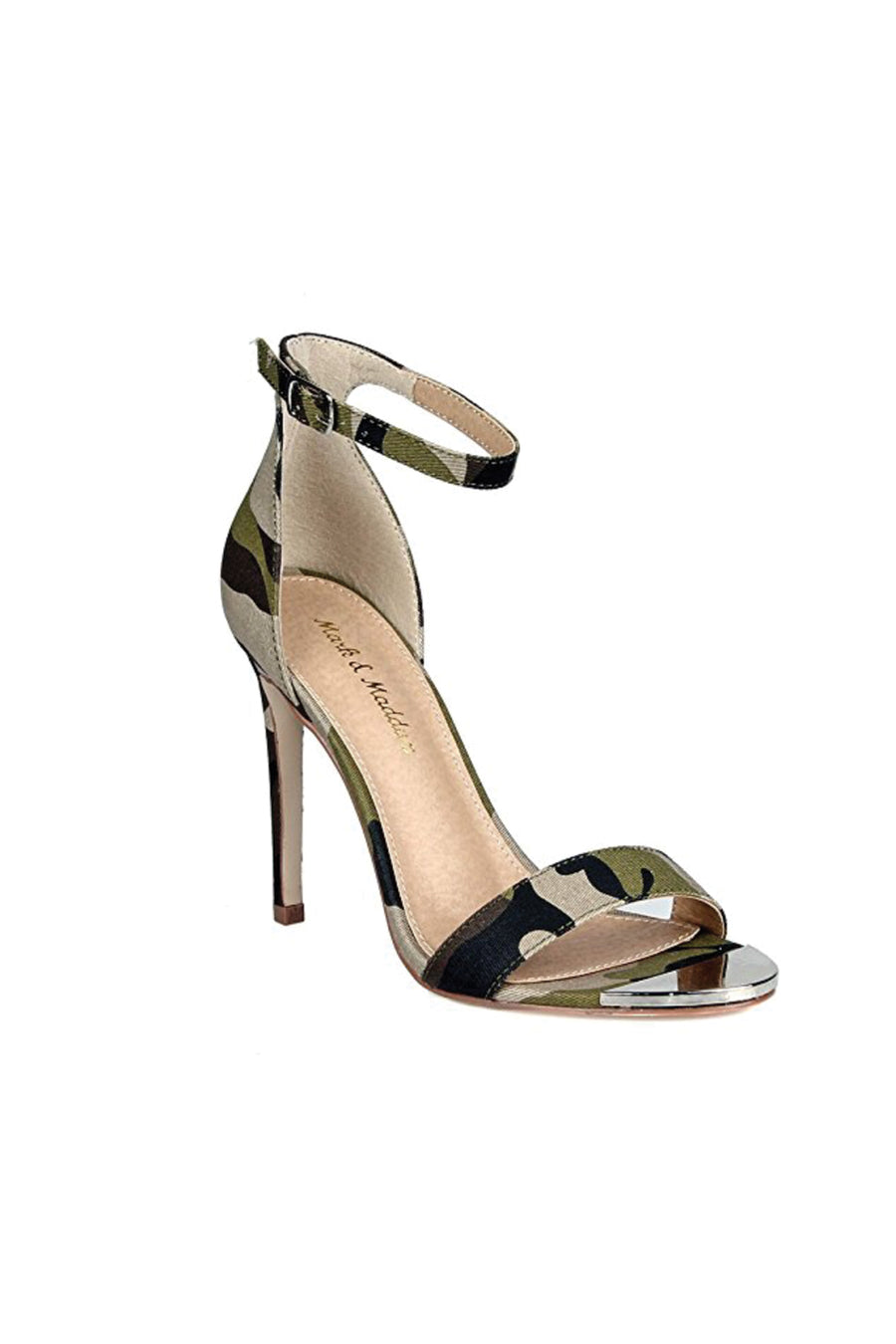 Camoflauge Ankle Strap High Heels
