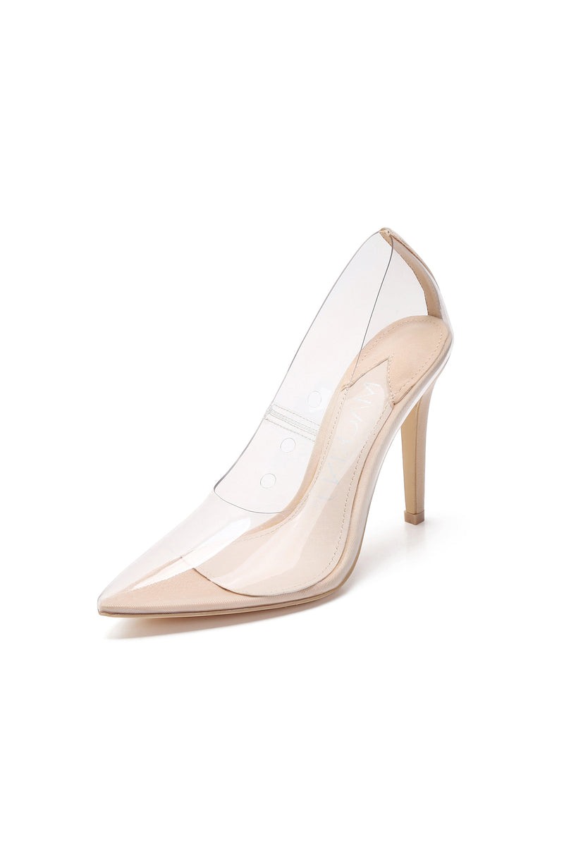 Clear Transparent Pointed Toe High Heels