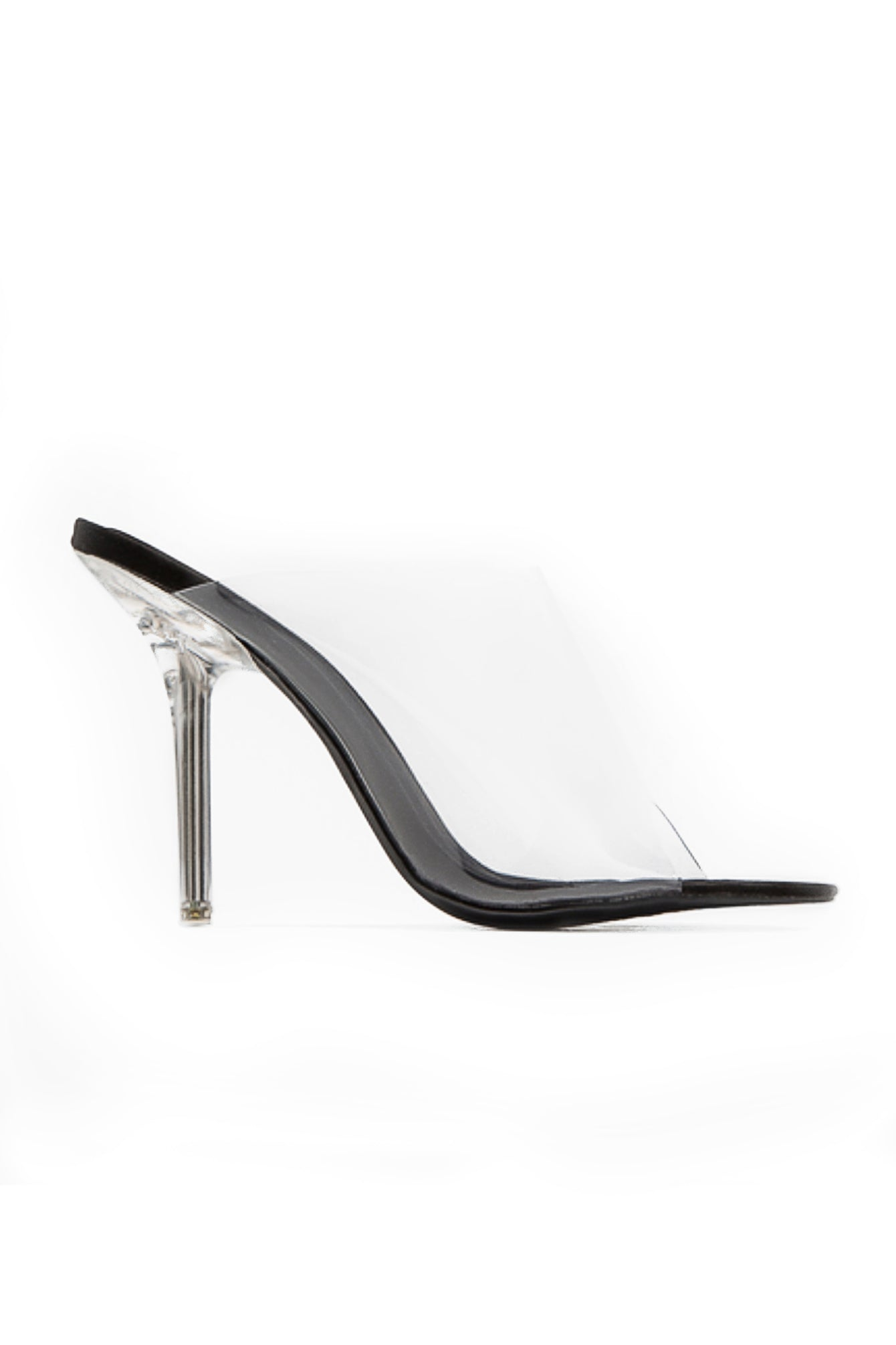 Clear Transparent High Heel Mules