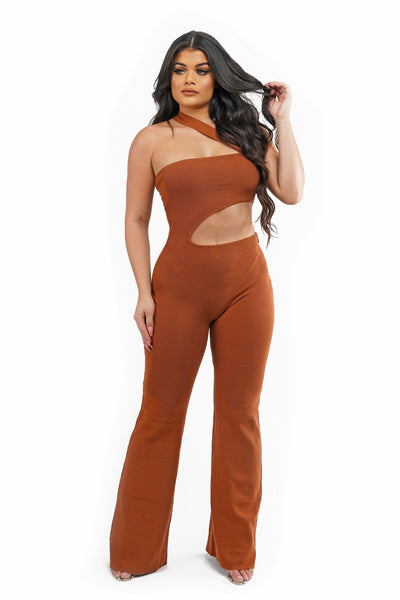 One Strap Cut Out Jumpsuit