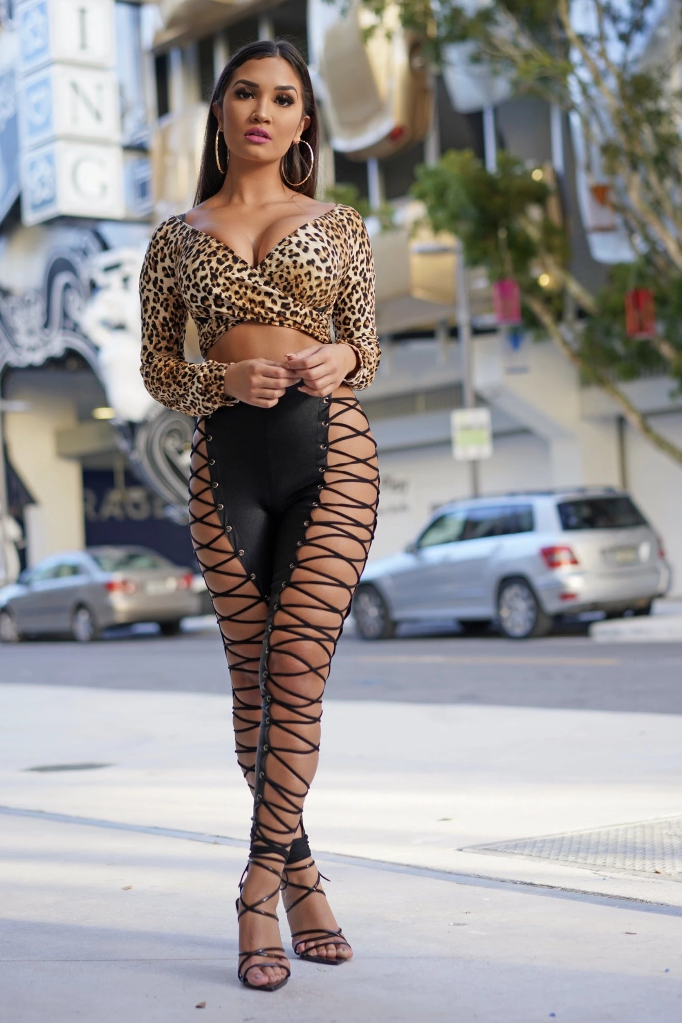 Black Corset Legging Pants