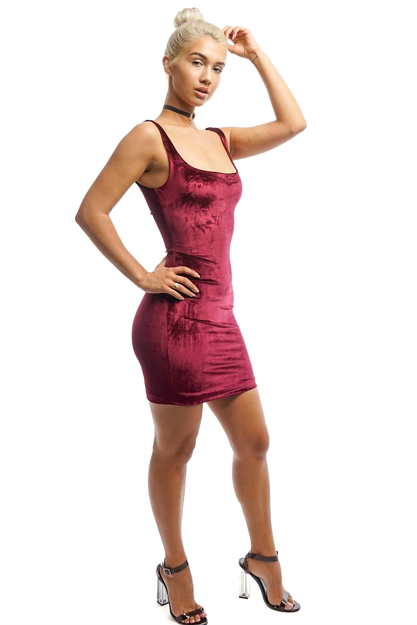 e72bcf226a27 Red Velvet Mini Dress - Style Link Miami