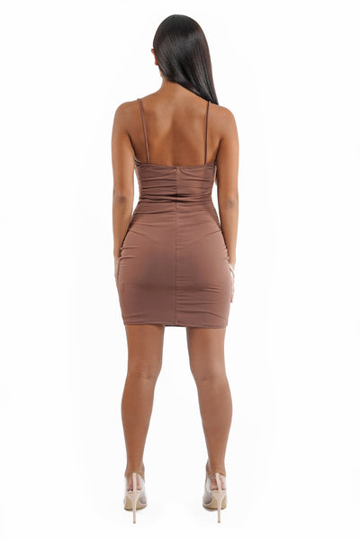 Ruched Cami Bodycon Dress