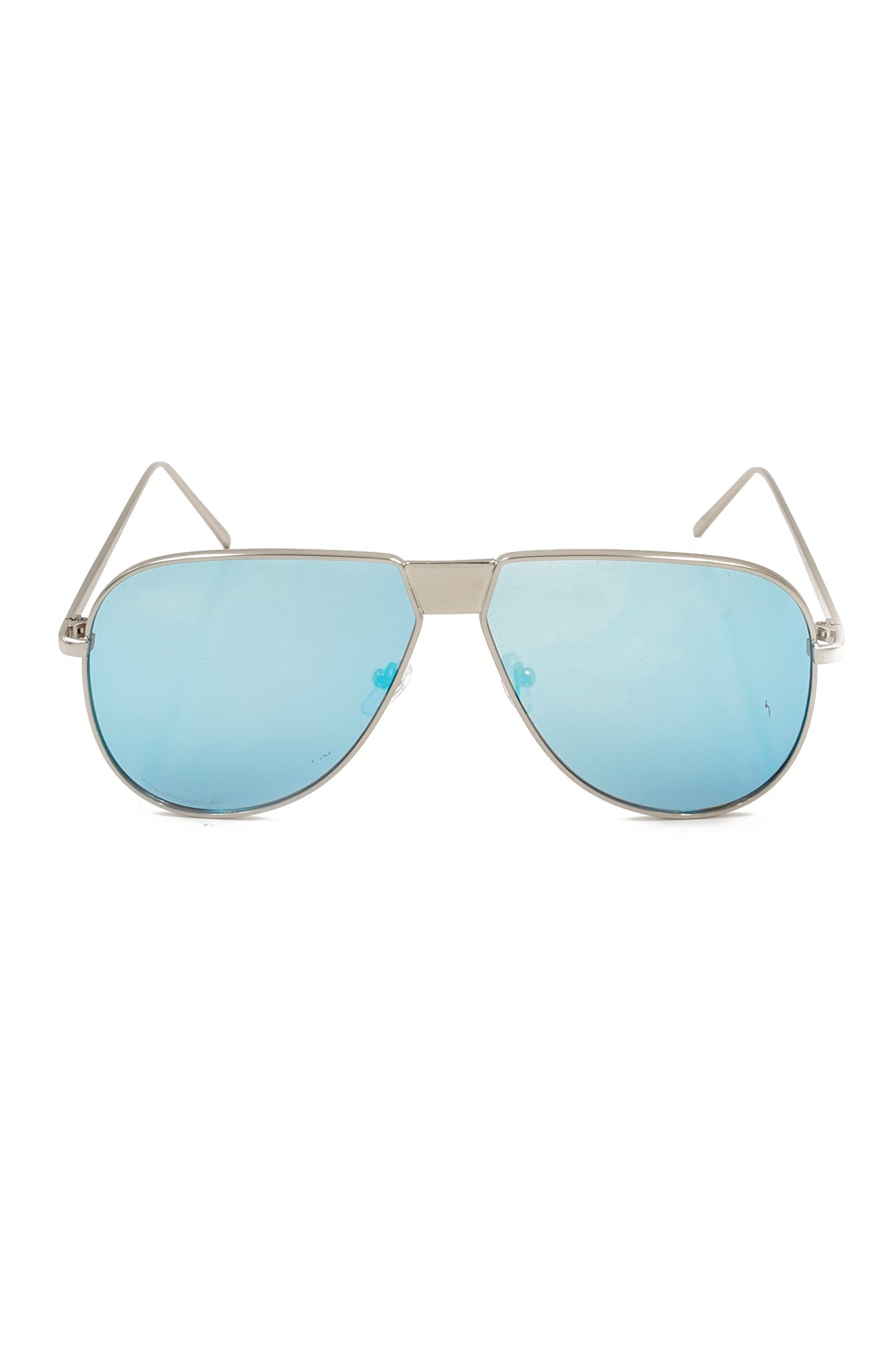 Blue Mirror Lens Aviator Mirror Sunglasses