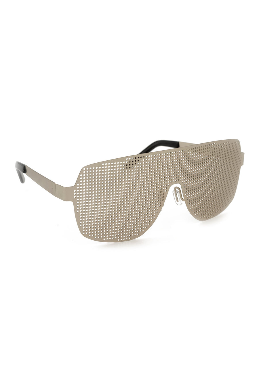 Silver Front Metal Panel Flat Top Sunglasses