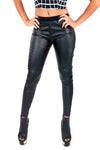 Black Front Texture Pant Leggings