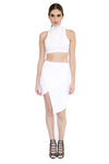 White Wrap Asymmetrical Skirt