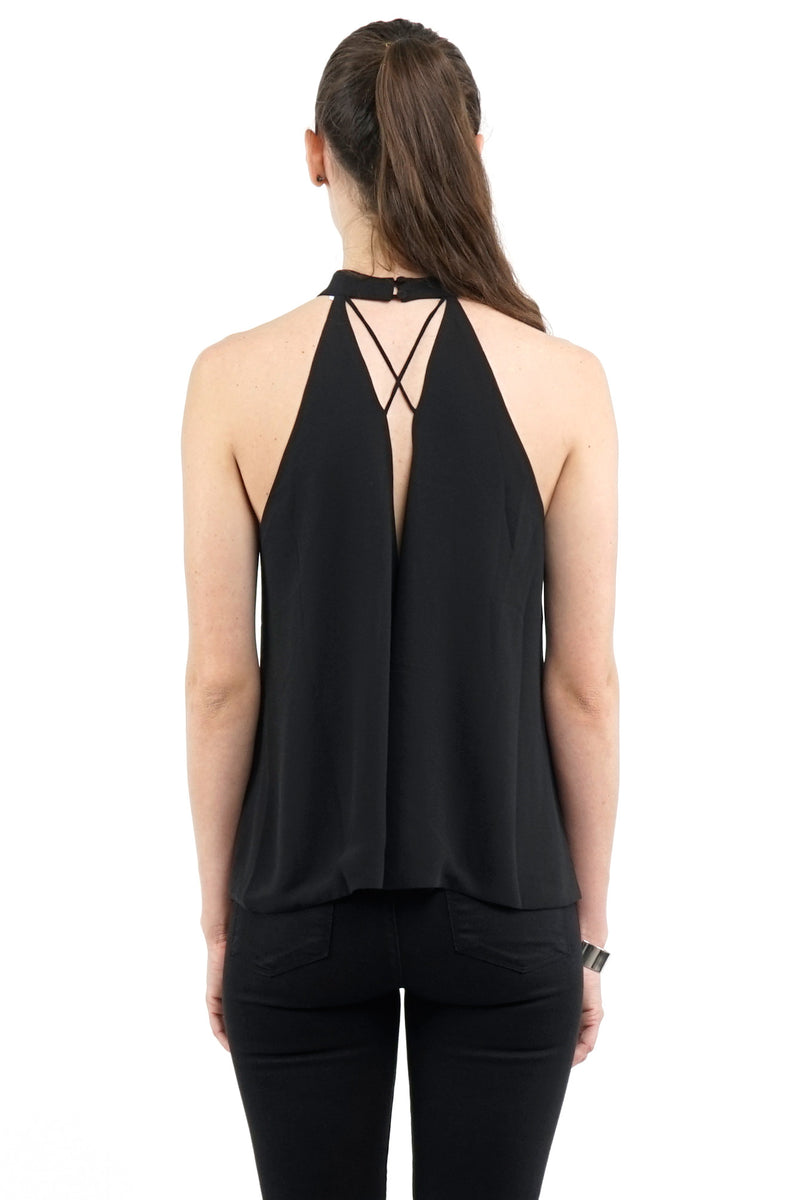 Round-Neck Halter Tunic Top