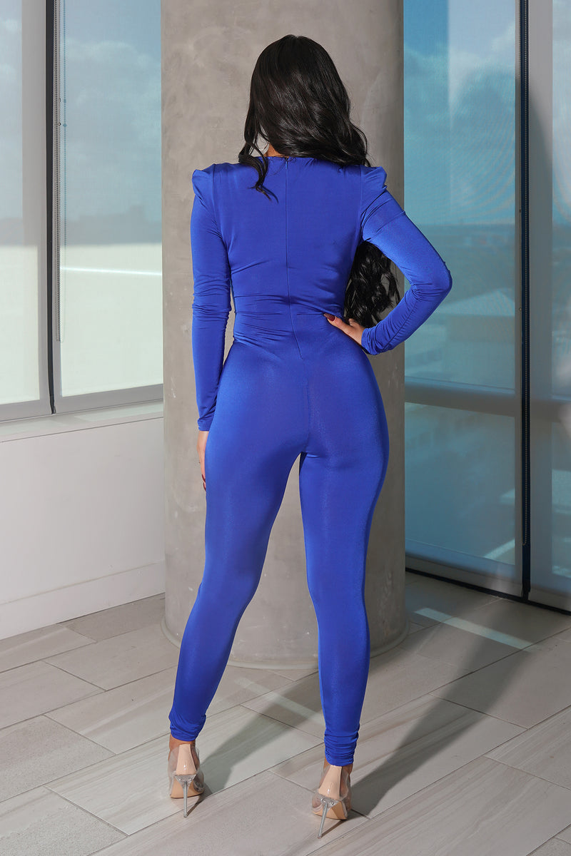 Royal Blue Pant Jumpsuit