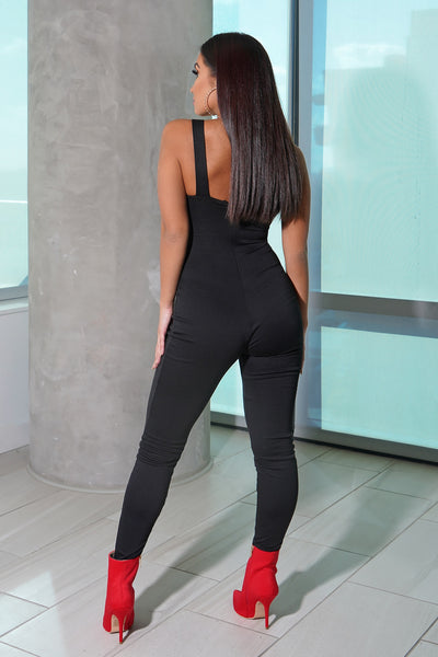 Black Cutout Pant Jumpsuit