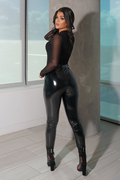 Black Latex Pants