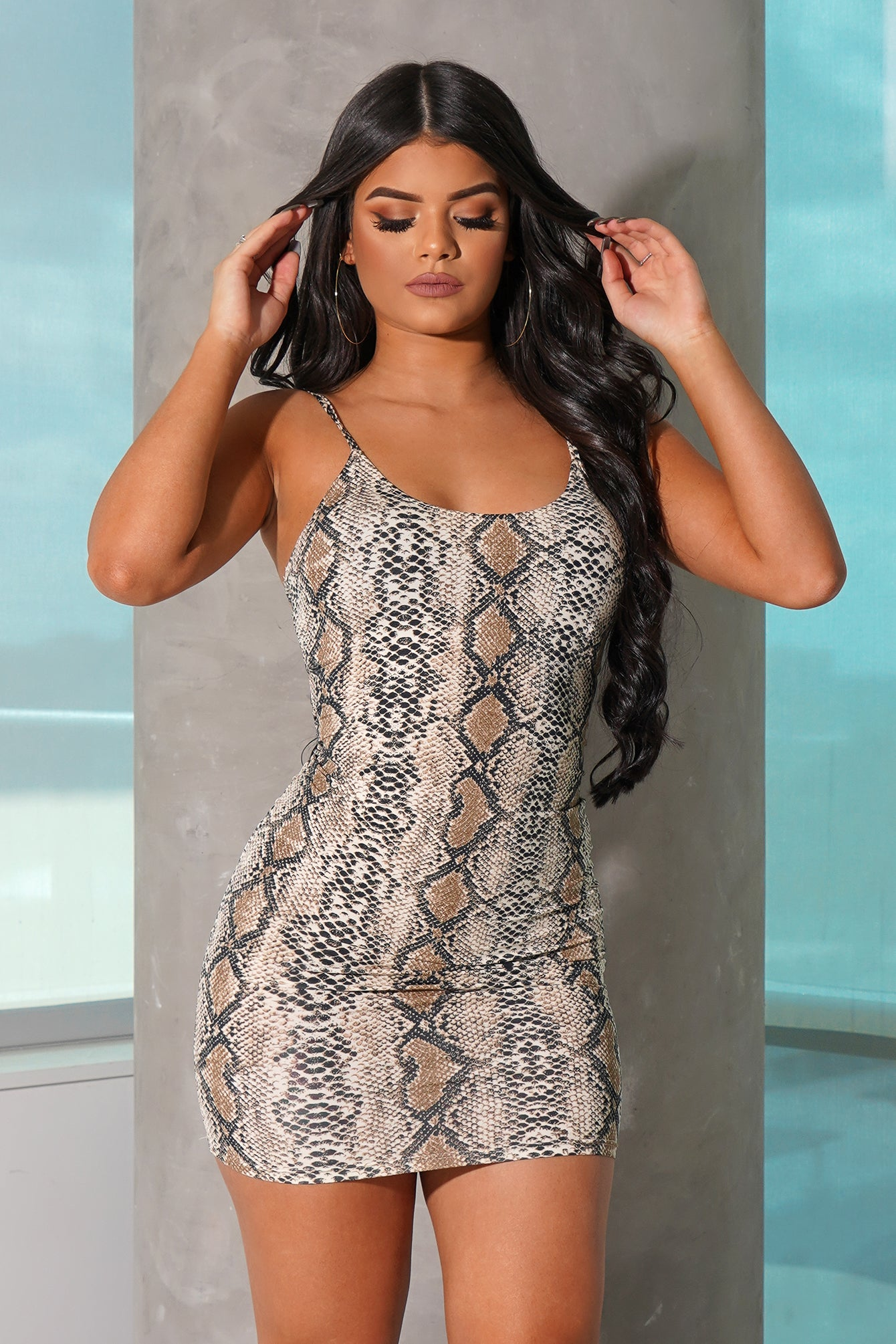 Snake Cami Mini Dress