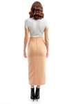 Peach Long Side Split Skirt