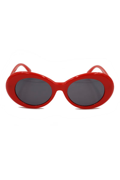 Retro Oval Colored Frame Sunglasses
