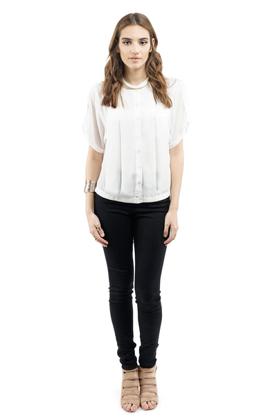 White Loose-Fit Blouse
