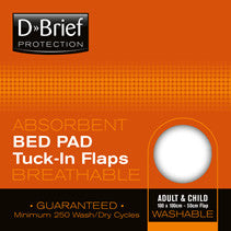 Bed Pad - Tuck-in flaps Beige/White