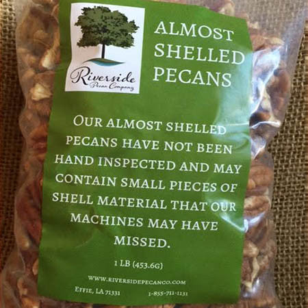 Almost Shelled Pecans in a Bag - 1 LB