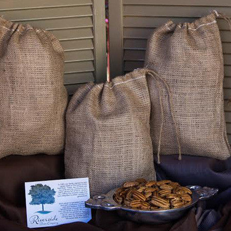 Almost Shelled Pecans in a Burlap Sack - 3 LB