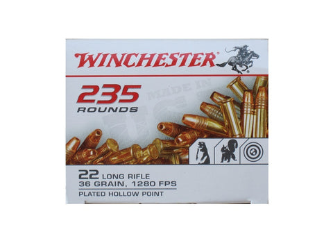 Winchester .22LR - 36 GR - HP - 235 Rds/box - Goodland Guns