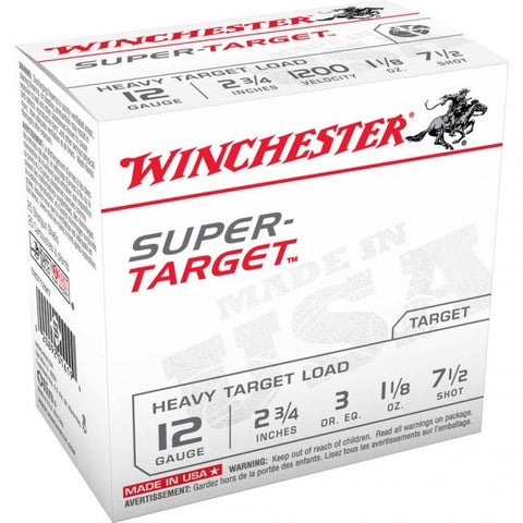 Winchester - 12GA - #7.5 - Super Target - 25 Rds/box - Goodland Guns