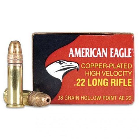 Federal American Eagle - .22LR - 38 GR - Copper Plated HP - 40 Rds/box - Goodland Guns
