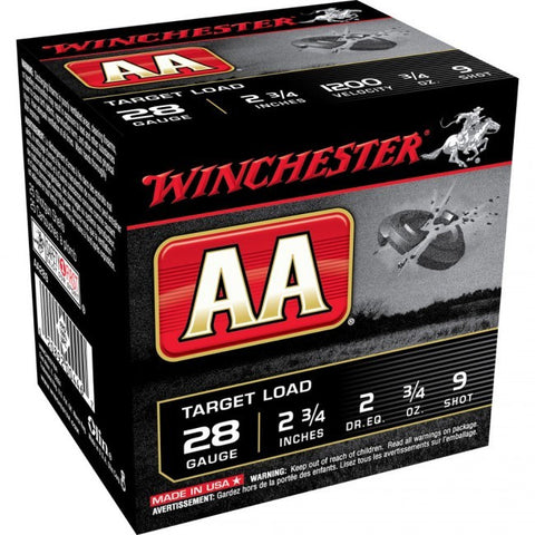 Winchester AA-HS Limited Edition - 28 Gauge - 3/4 oz - #9 - 25 Rds/box - Goodland Guns