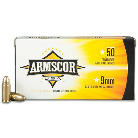 Armscor 9mm 124 GR FMJ 50 Rds - Goodland Guns