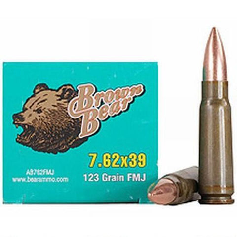 Brown Bear 7.62x39 - FMJ - 123 - Goodland Guns