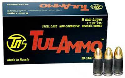 TulAmmo 9mm - FMJ - 115 GR - 50 Rds/box - Goodland Guns