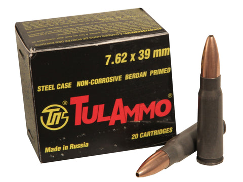 TulAmmo 7.62x39mm - HP - 122 GR - Goodland Guns