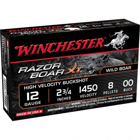 "Winchester Razor Boar - 12 GA - 2.75"" - 00 Buck - 5 Rds/box - Goodland Guns"