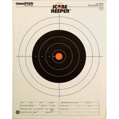 Champion Scorekeeper 100 Yd.Small Bore RifleTargets - Goodland Guns