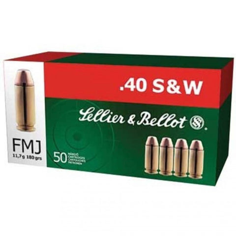 Sellier & Bellot - .40S&W - 180 Gr - FMJ - 50 Rds/box - Goodland Guns