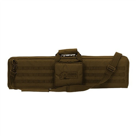 "Voodoo Tactical 37"" Single Rifle Padded Weapons Case MOLLE - Coyote - Goodland Guns"