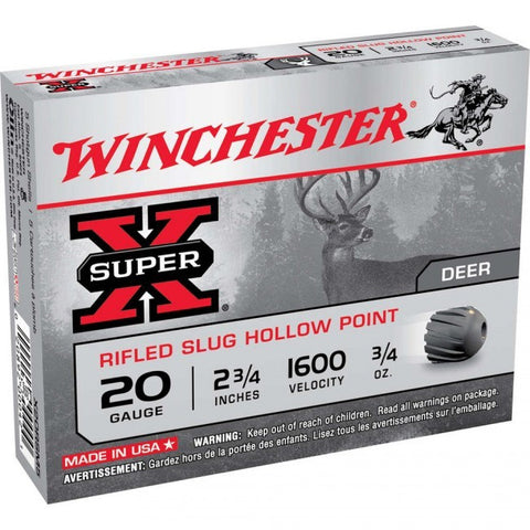 Winchester - 20GA - 3/4OZ Slug - Super-X - 25 Rds/box - Goodland Guns