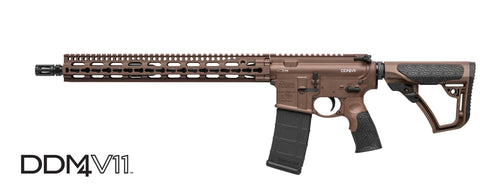 "Daniel Defense DDM4 - V11 - 5.56 - 16"" - 10+1 - Brown Cerakote - Goodland Guns"