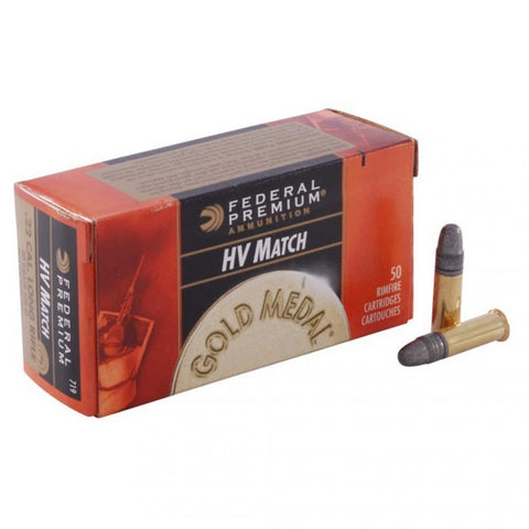 Federal Gold Medal High Velocity Match - 22LR - 40 GR - LRN - 500 Rds/box