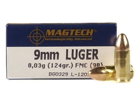 Magtech 9mm - 124 GR - FMJ - 50 Rds/bx - Goodland Guns