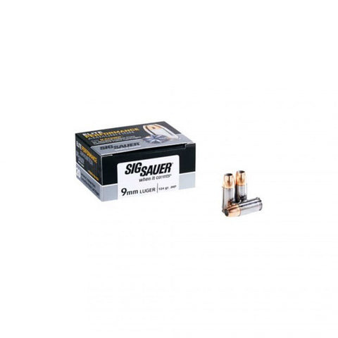Sig Sauer Elite Performance Ammunition - 9MM - 115 GR - SIG V-Crown JHP - 20 Rds/Box - Goodland Guns