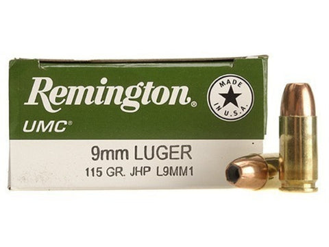 Remington UMC 9mm - 115 GR - JH - Goodland Guns