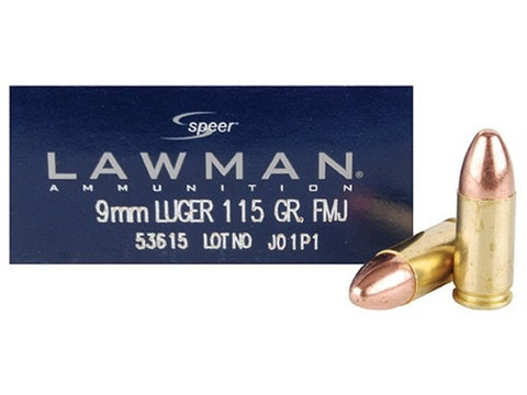 Speer Lawman - 9mm - 115 GR - FMJ - Goodland Guns