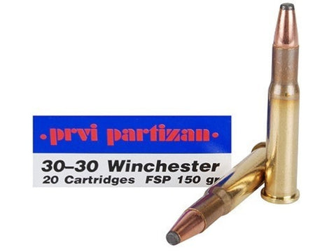 Prvi Partizan - 30-30 Win - 150 Gr - SP - 20 Rds/box - Goodland Guns
