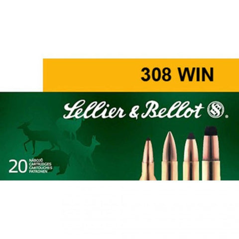 Sellier & Bellot .308 Win - 147GR - FMJ - 20 Rds/box - Goodland Guns